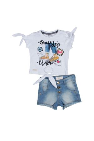 Conj.shorts Jeans Rock