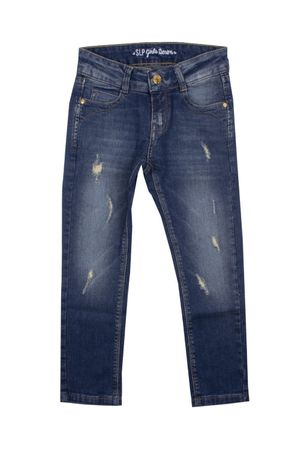 Calça Jeans Avulsa Deep Distressed