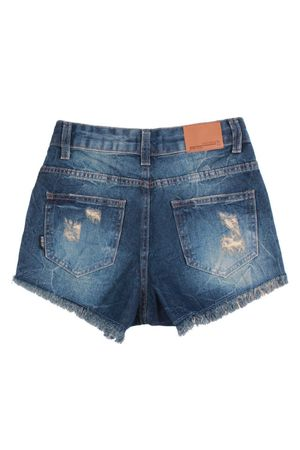 Shorts Jeans Cintura Alta Destroyer
