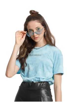 Blusa Cropped Oversized Space