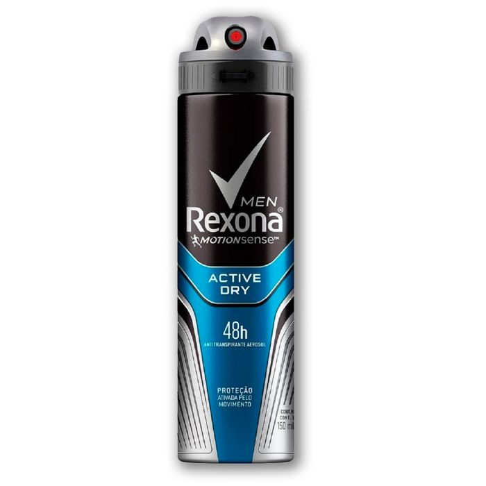 Desodorante Antitranspirante Aerosol Rexona Men Active Dry 150ml