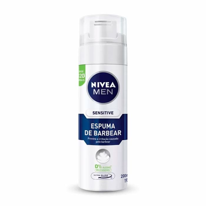 Espuma De Barbear Sensitive Nivea Men 193g