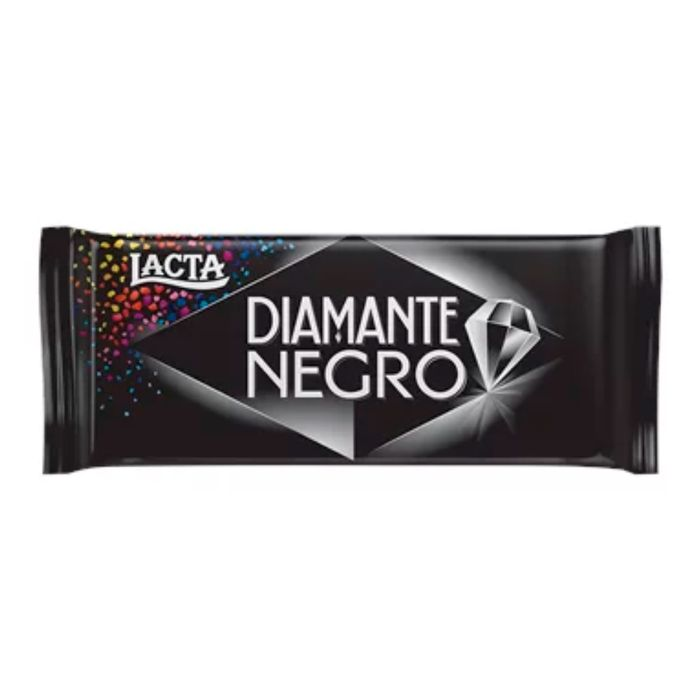 Barra De Chocolate Diamante Negro Ao Leite Lacta 90g