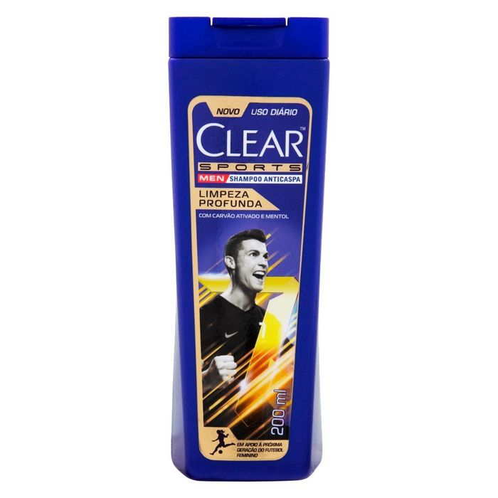 Shampoo Clear Men Limpeza Profunda 200ml