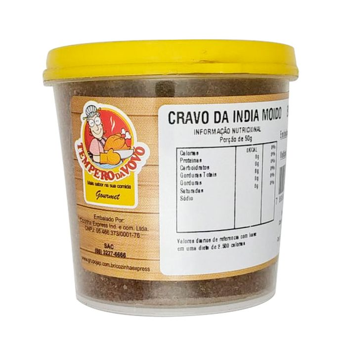 Cravo Da India Moido Tempero Da Vovo 80g