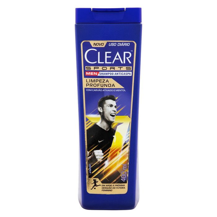 Shampoo Anticaspa Clear Men Limpeza Profunda 400ml