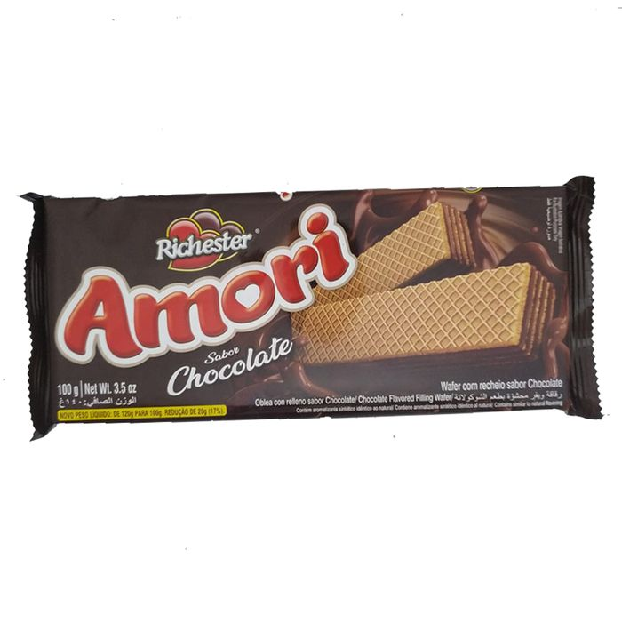 Biscoito Wafer Amori Chocolate 100g