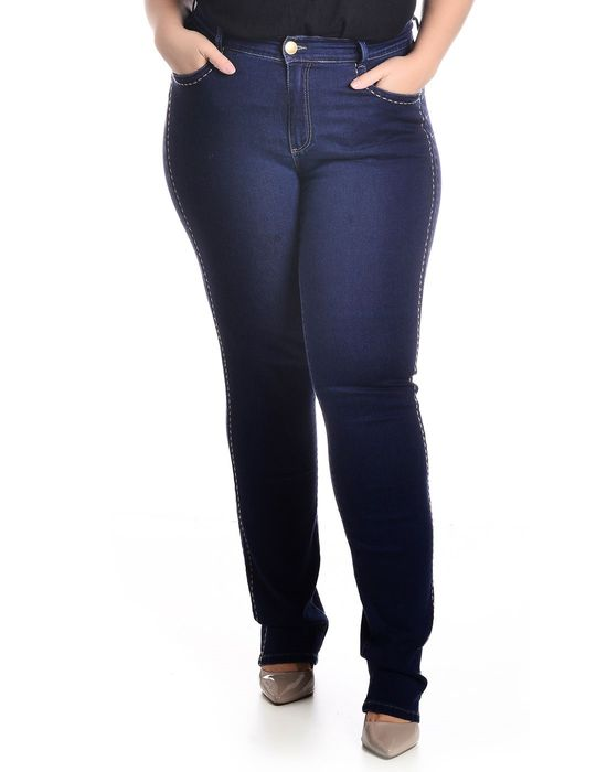 CALÇA PLUS SIZE IMPULSE JEANS COM BORDADO LATERAL