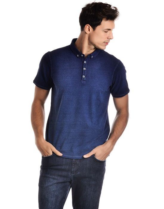 Polo Malha Denim Degradê