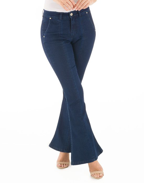 Flare Lavagem Escura Loony Jeans