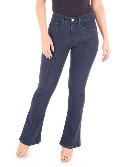 Calça Flare Jeans Lavagem Escura Loony Jeans