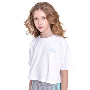 Camiseta Cropped Kids Amofany Its All Chill