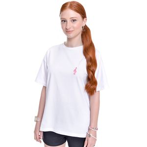 Camiseta Oversized Teen Amofany Nota Musical
