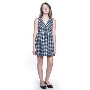 VESTIDO TEEN CHAMBRAY BORDADO