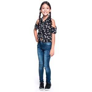 Blusa Kids Cropped Estampado