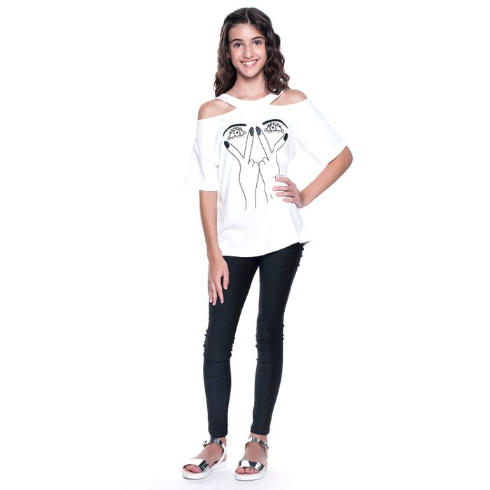 Blusa Teen Com Estampa.