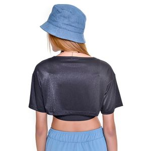 Cropped Teen Amofany Lurex