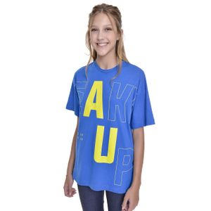 Camiseta Oversized Teen Amofany Wake Up
