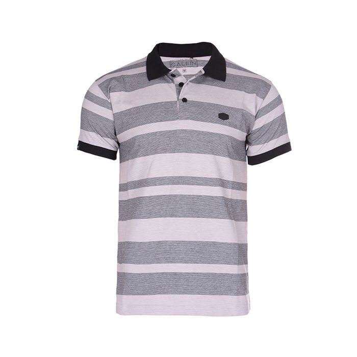 Polo M/c Twill Stripe Etiqueta Lateral