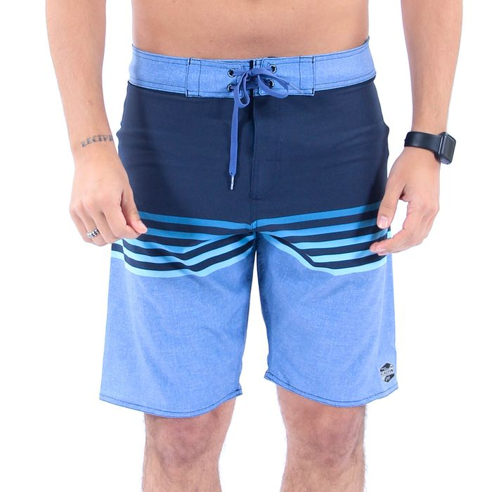 Bermuda Agua Calfin Stretch Faixas Degrade