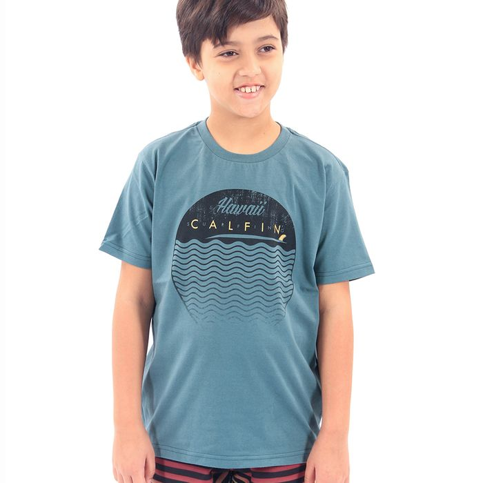 Camiseta Juvenil Calfin Hawaii Surfing