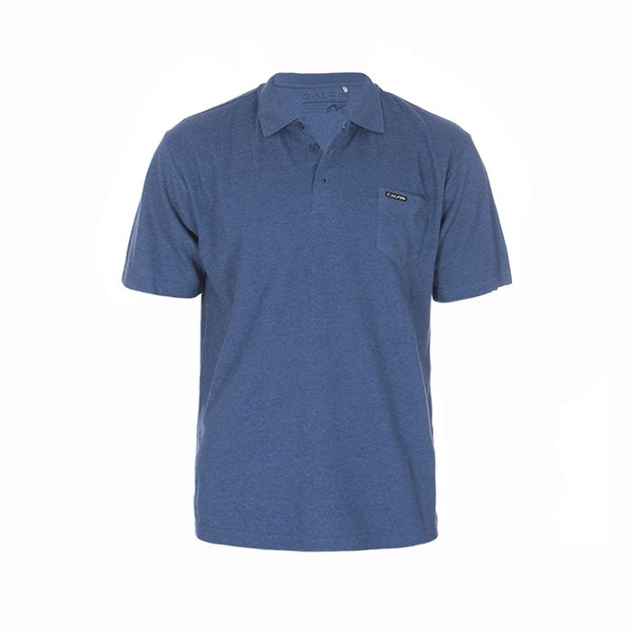 Camisa Polo Plus Size Calfin Piquet Tom Bolso Lateral