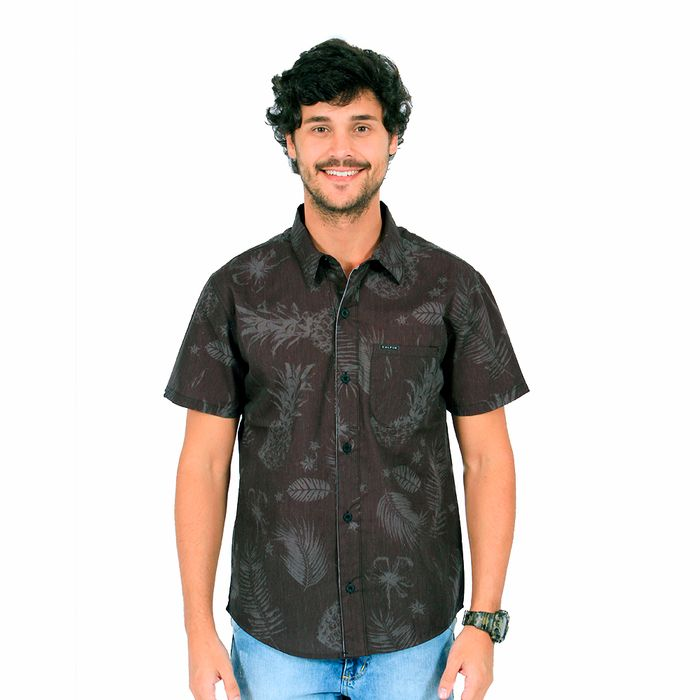 Camisa Calfin Tricoline Policotton Sublim Abacaxi