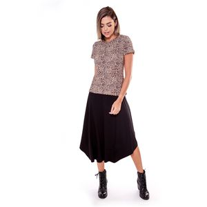 Blusa Viscocrepe Estampa Bicho Careca