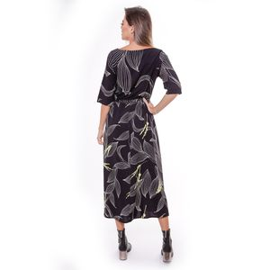Vestido Viscose Estampa Composee