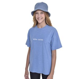 Camiseta Teen Amofany Oversized Who Cares