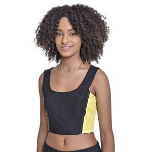 Top Teen Amofany Viscose Com Recortes